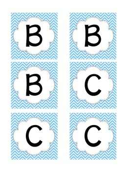 Boggle (Blue and Green Chevron)