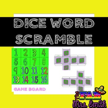 Dice Word Scramble