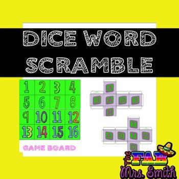 Dice Word Scramble