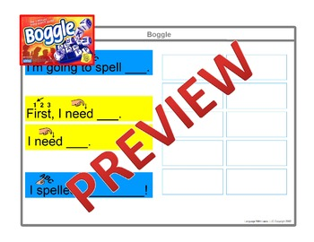 Boggle [speech therapy and autism]