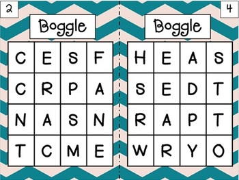 Boggle: A Making Words Activity