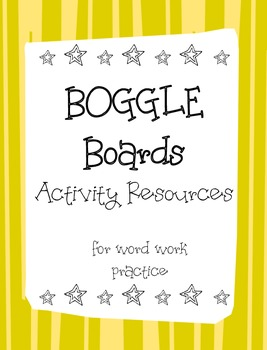 Boggle Activity Sheets- Print Ready- no additional resources! (21pack)