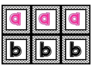 Boggle Alphabet Letter Cards for boggle board {Free}