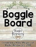 Boggle Bulletin Board Letter Cards