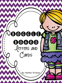 Boggle Board Letters and Cards