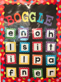 Boggle Board (Letters and Recording Sheet)