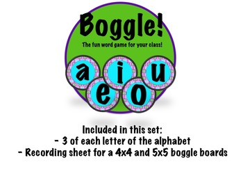Boggle Board, Pink, Turquoise, and Purple