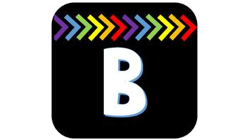Boggle Board Set - Black/Rainbow Theme