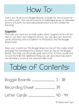 Boggle Boards (36 boards) FREEBIE