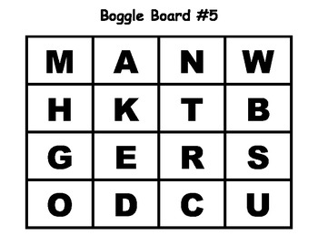Boggle Boards