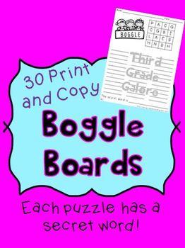Boggle Boards - Print and Copy