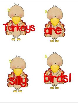"""Boggle! Boggle! (A Thanksgiving themed """"Mixed Up"""" Sentences Unit"""