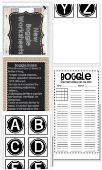 Boggle Bulletin Board Printables