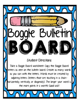 Boggle Bulletin Board Set