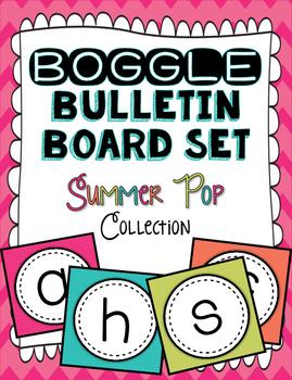 Boggle Bulletin Board Set - Summer Pop Collection