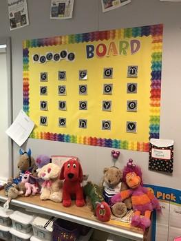 Boggle Bulletin Board Set and Recording Sheet