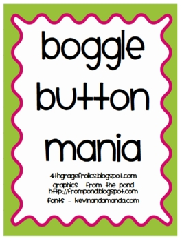 Boggle Button Mania