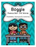Word Work: Boggle Board Worksheets (CVC words)