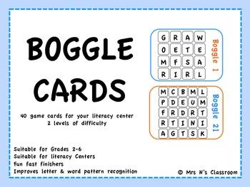 BOGGLING Boggle Game Cards