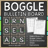 Boggle Boards and Boggle Letters for Bulletin Board - Chalkboard and Burlap