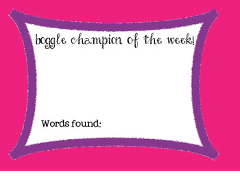 Boggle Champion Poster