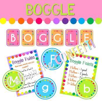 Boggle - Colour me Confetti
