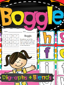 Boggle - Consonant Blends and Digraphs