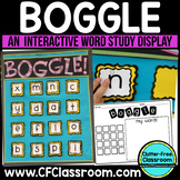 Boggle Display WORD STUDY GAME / CENTER Classroom Packet  -BLACKLINE DESIGN