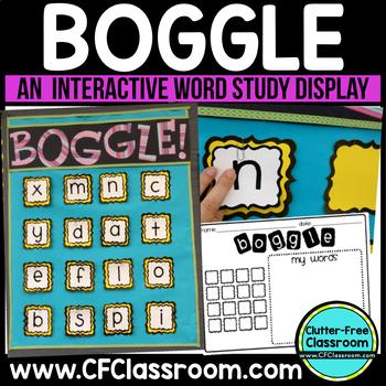 Boggle Display WORD STUDY GAME / CENTER Classroom Packet  -BLACKLINE DESIGN