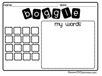 Boggle Game For Classroom - 3d House Drawing •