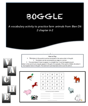 Boggle | French Farm Animals