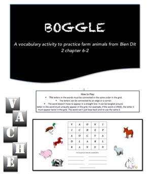 Boggle   French Farm Animals