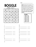 Boggle Game Avancemos 1 U3 L1 3.1 activity vocabulary cooperative learning