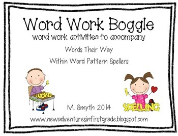 Boggle Inspired by Words Their Way- Within Word Pattern Spellers