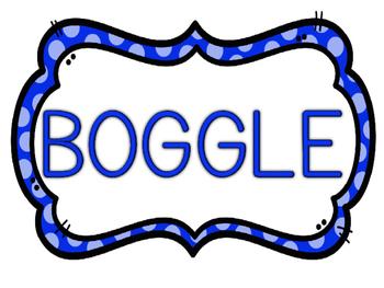 Boggle Intructions