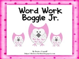Boggle Jr. Word Work Form
