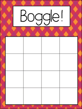 Boggle! Language Center! Vocabulary & Spelling! NO PREP Activity Pack!