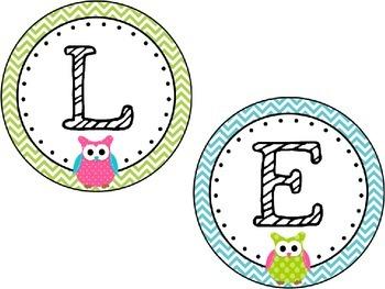 Boggle Header Title Letter Cards for boggle board *Freebie*