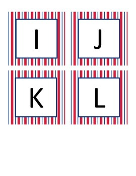 Boggle Letters Nautical Theme