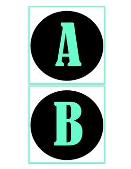 Boggle Letters Teal & Black