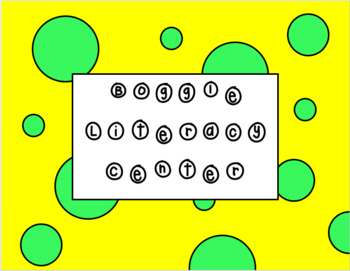 Boggle Literacy Center