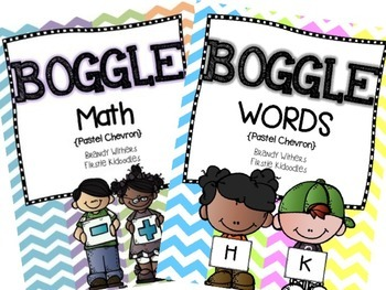 BOGGLE Math & Words Bundle in Pastel Chevron