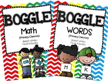 BOGGLE Math & Words Bundle in Primary Chevron