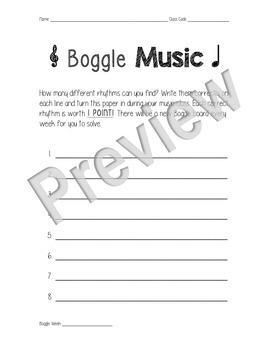 Boggle Music