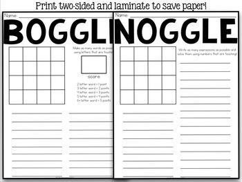 Boggle & Noggle