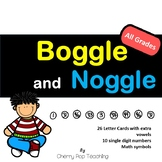 Boggle Noggle Word Fun, Literacy and Math Combined