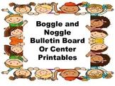 Boggle / Noggle bulletin board or Center game