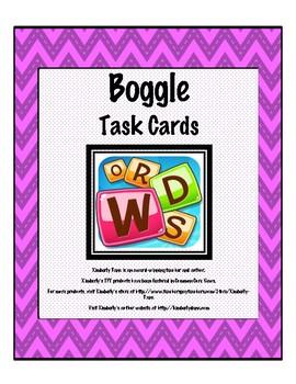 Boggle Task Cards