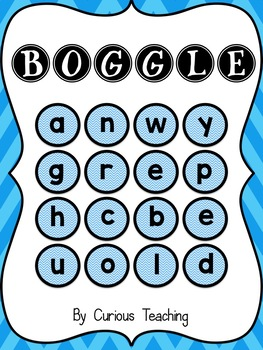 BLUE Boggle - Whole class, Small group, Independent variations