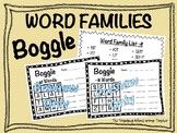Boggle Word Families **Bundle**